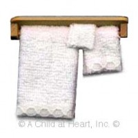 Dollhouse 4 pc Towel Bar Set - Product Image