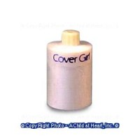 § Disc .70¢ Off - Dollhouse Cover Girl Cosmetic Bottle - Product Image