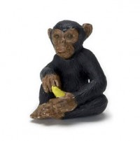 Dollhouse Chimpanzee with Banana - Product Image