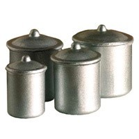 Dollhouse Silver Kitchen Canisters - Product Image