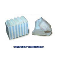 Dollhouse Striped Diaper Box - Product Image