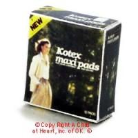(§) Disc .70¢ Off - Dollhouse Kotex Maxi Box - Product Image