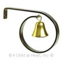 (*) Dollhouse Brass Howdy Bell - Product Image