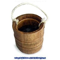 (*) Dollhouse Empty or Filled Wooden Bucket - Product Image