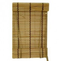Dollhouse Working Bamboo Roll Up Shade For Door - Product Image