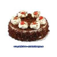 Dollhouse Chocolate Crumb Cake w/ Whip Cream - Product Image