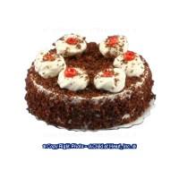 Dollhouse Chocolate Crumb Cake w/ Whip Cream - Product Image