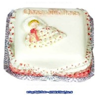 Dollhouse Congratulations it's a Girl Cake - Product Image