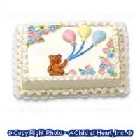 Dollhouse Baby Shower Sheet Cake - Product Image
