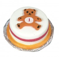 Dollhouse Bear Birthday Cake - Product Image