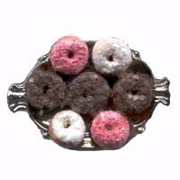 Dollhouse Donuts on Tray - Product Image