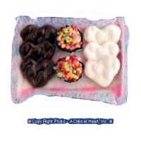 Sale $1 Off - Dollhouse Heart Cookies & Sweets Tray - Product Image