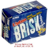 § Disc .60¢ Off - Dollhouse Brisk Tea Case - Product Image