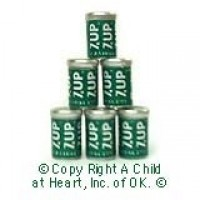 § Sale .60¢ Off - 6 pc ''7up'' Cans - Product Image