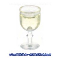 (*) Dollhouse Glass of White Wine - Product Image