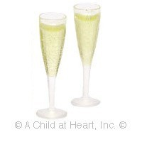 Champagne in Fluted Glasses - Product Image