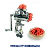 Dollhouse Meat Grinder with Meat & Bowl Set - Product Image