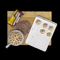 Sale $5 Off - Dollhouse Making of Chocolate Chip Cookies - Product Image