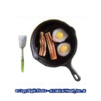 § Sale .60¢ Off - Dollhouse Bacon & Eggs Cooking Set - Product Image