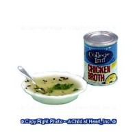 § Disc .60¢ Off - Dollhouse Chicken Broth Set - Product Image