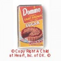 § Disc .50¢ Off - Dollhouse Lt. Brown Sugar Box - Product Image