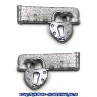 (**) Unfinished Hasp w/ Vintage Padlock - Product Image