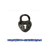 (**) Unfinished Vintage Padlock - Product Image