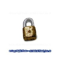 (**) Unfinished Modern Padlock - Product Image