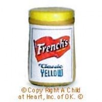 § Disc .40¢ Off - Dollhouse French Mustard Bottle - Product Image