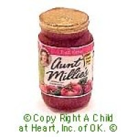 § Disc .60¢ Off - Dollhouse Bottled of Spaghetti Sauce - Product Image
