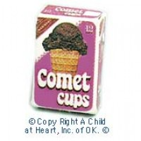 § Disc .40¢ Off - Dollhouse Ice Cream Comet Cups - Product Image