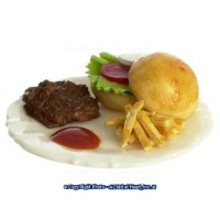 Dollhouse Deli Burger & Fries - Product Image