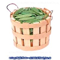 Dollhouse Filled 1/2 Bushel Basket - Green Bean - Product Image