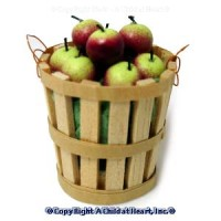 Dollhouse Filled Bushel Basket - McIntosh Apples - Product Image