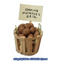 Dollhouse Filled Store Basket - Bake Potatoes - Product Image