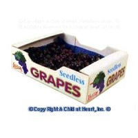 § Sale $1 Off - Dollhouse Case of Red Grapes (Filled) - Product Image