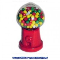 Dollhouse Table Top Gumball Machine - Product Image