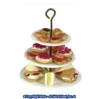 Dollhouse Tier Plate Sandwiches & Strawberry Pie - Product Image