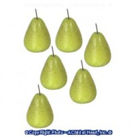 (**) 6 pc. Dollhouse Pears - Product Image