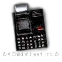 (**) Unfinished Modern Adding Machine - Product Image