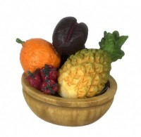 Dollhouse Fruit Bowl w/ Pineapple - Product Image