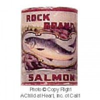 § Sale .30¢ Off - Dollhouse 1 lb. Can of Rock Brand Salmon - Product Image