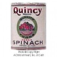(§) Sale .30¢ Off - Dollhouse 1 lb. Can of Quincy Spinach - Product Image