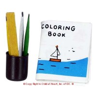 § Disc .45¢ Off - Dollhouse Coloring Set - Product Image