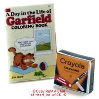 Dollhouse Crayon & Coloring Book - Product Image