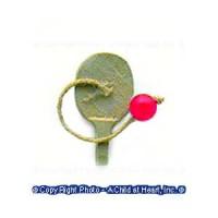 (**) Dollhouse Paddle Ball - Product Image