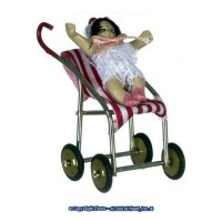 § Disc .60¢ Off - Dollhouse Stroller, Doll & Bear - Product Image