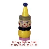 § Disc .40¢ Off - Dollhouse Miniature Wooden Clown - Product Image