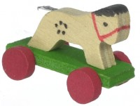 (§) Disc. .30¢ Off - Dollhouse Wood Pull Toy - Product Image