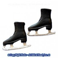 (**) Black or White Ice Skates - Product Image